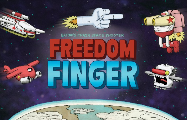 literally give enemies the finger in freedom finger - trailer here Literally give enemies the finger in Freedom Finger – trailer here Freedom Finger