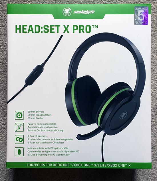 snakebyte head:set x pro (headset) review SnakeByte HEAD:SET X PRO (headset) Review SnakeByte HeadSet X Pro Box