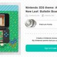 Nintendo 3DS theme: Animal Crossing: New Leaf: Bulletin Board walkthrough Animal Crossing NL Bulletin Board theme
