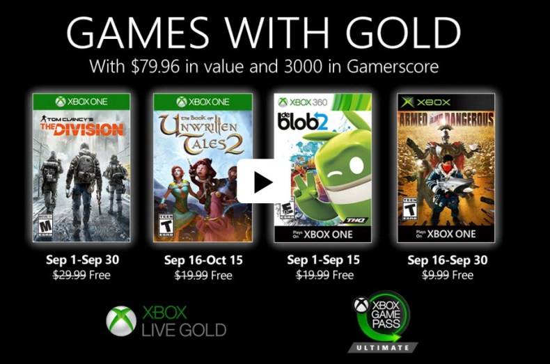 Games with Gold Sept 2020