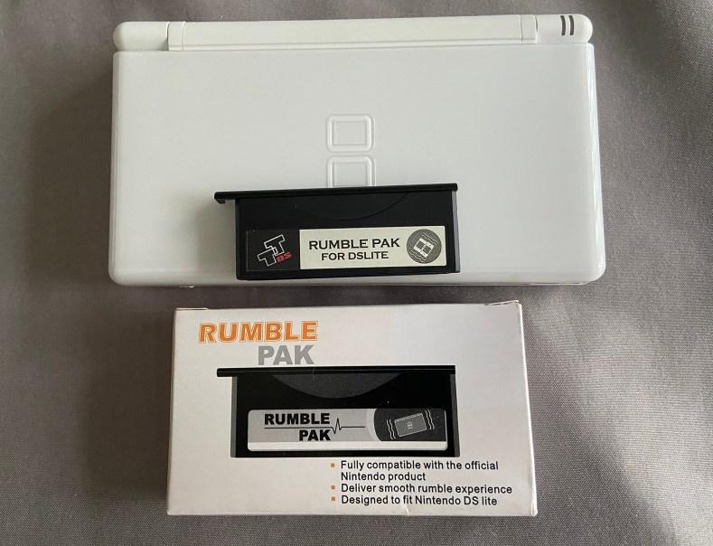 DS Lite Rumble Pak banner