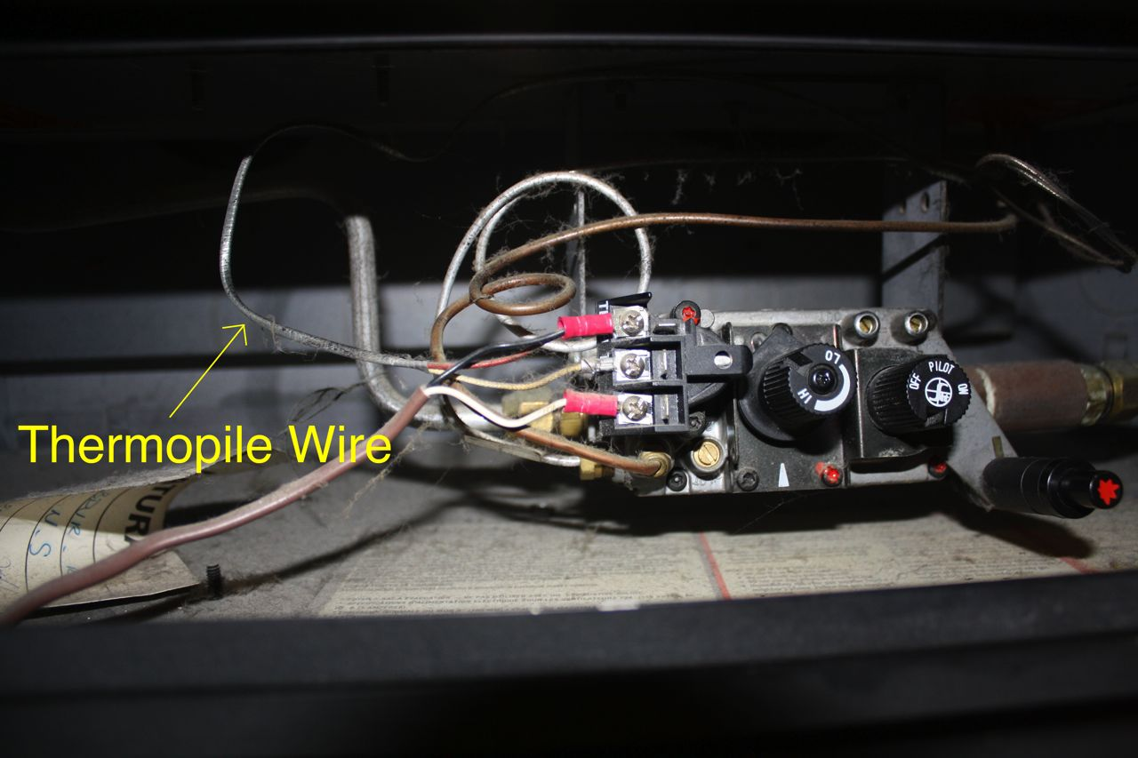 hight resolution of how to test your thermopile my gas fireplace repair wall heater wiring diagram gas fireplace thermocouple wiring