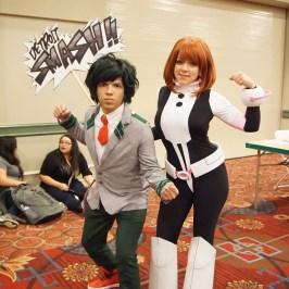 Izuku & Ochako from My Hero Academia at A-Kon 27