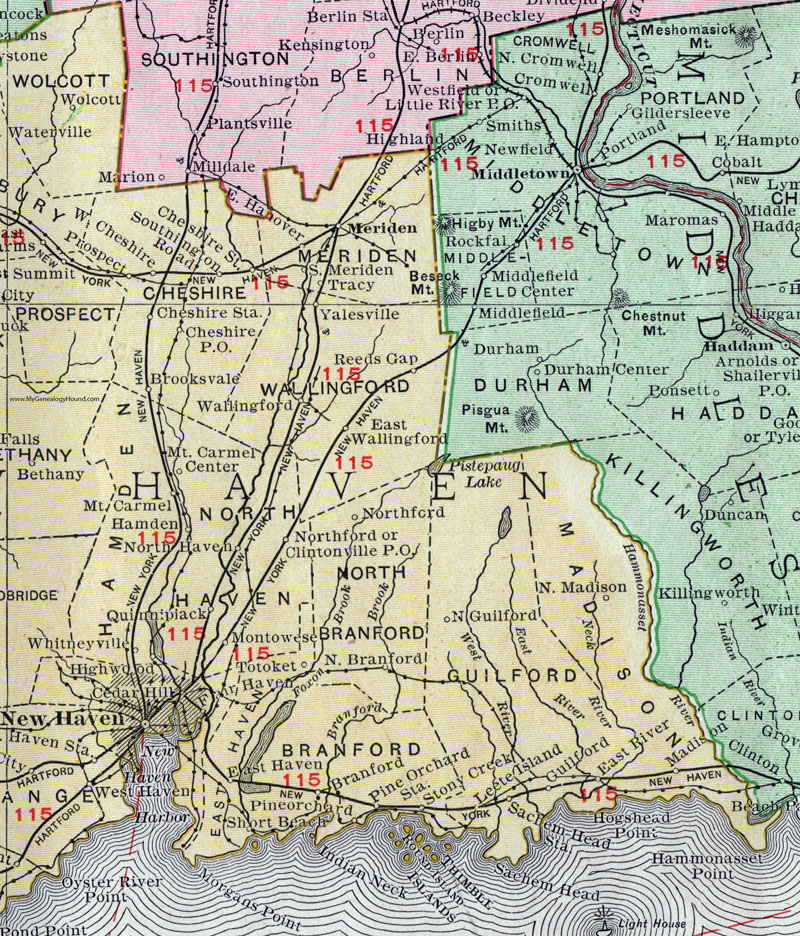 North Haven Connecticut Map