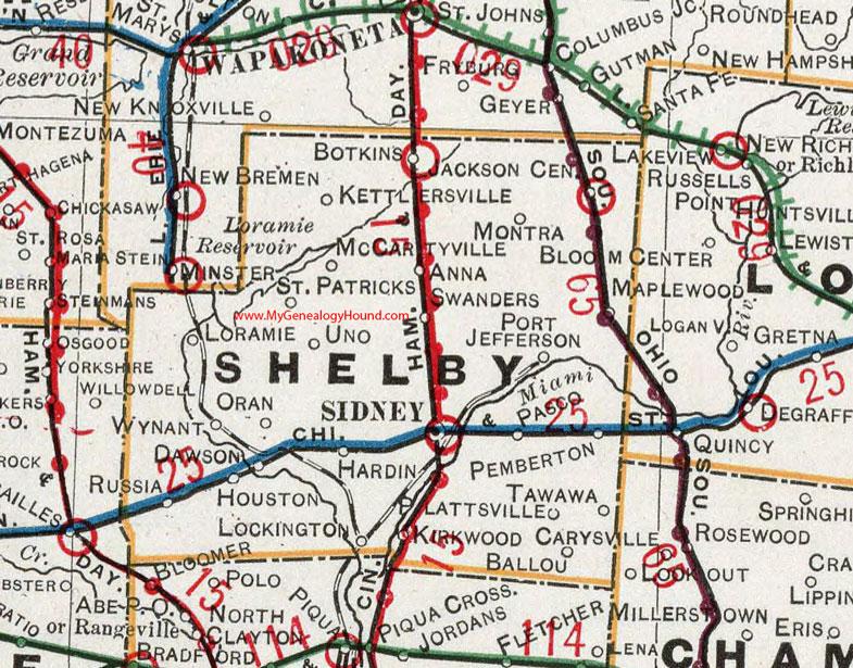 Sidney Ohio Map Counties