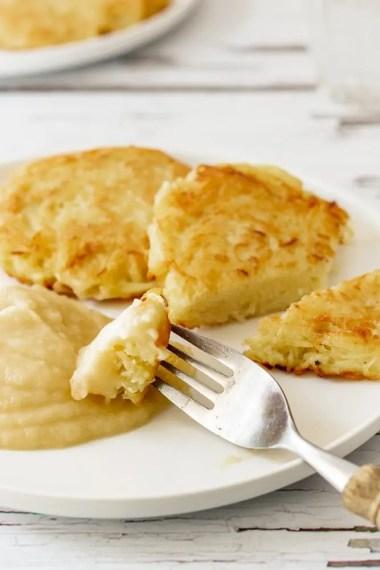 German Potato Pancakes with Applesauce