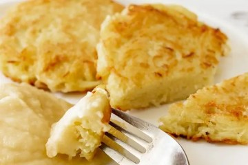 German Potato Pancakes with Applesauce