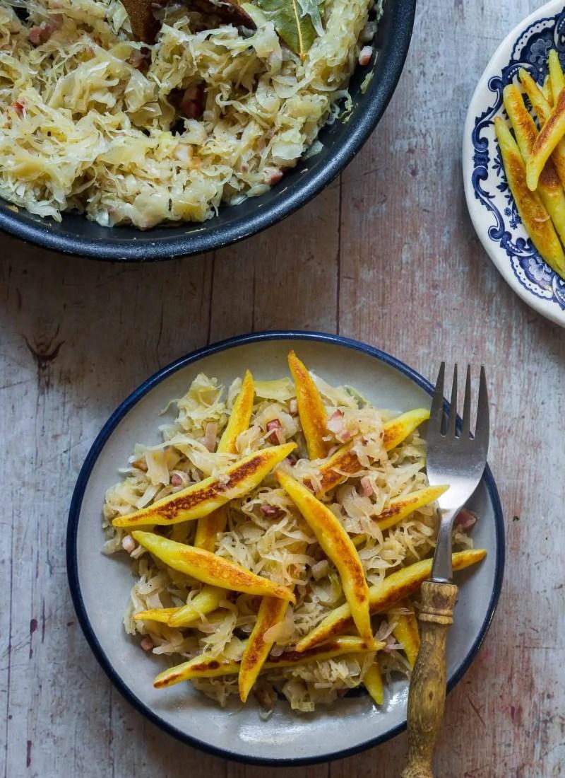 Potato Noodles with Sauerkraut
