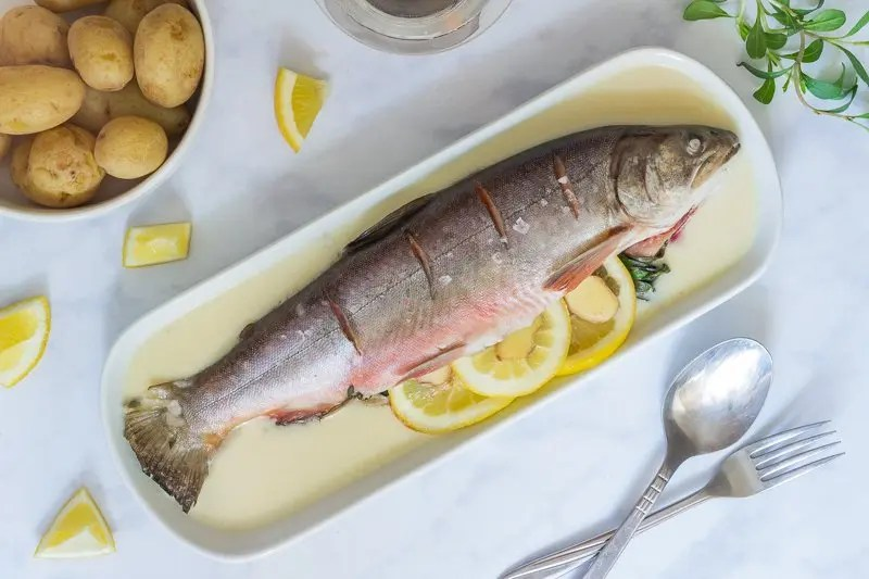 Baked Arctic Char with Horseradish Sauce