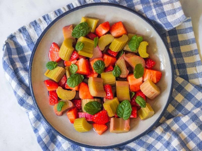 Strawberry-Rhubarb Salad