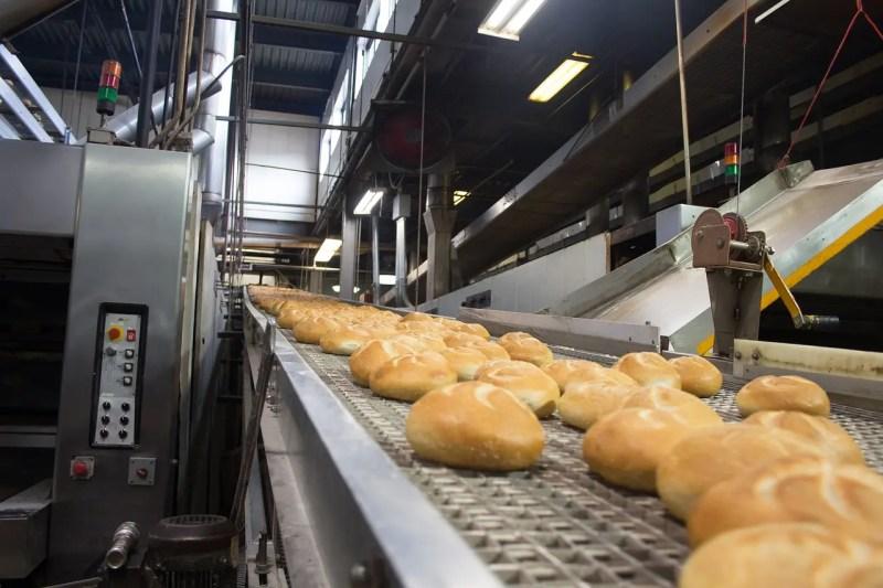 Industrial bread line