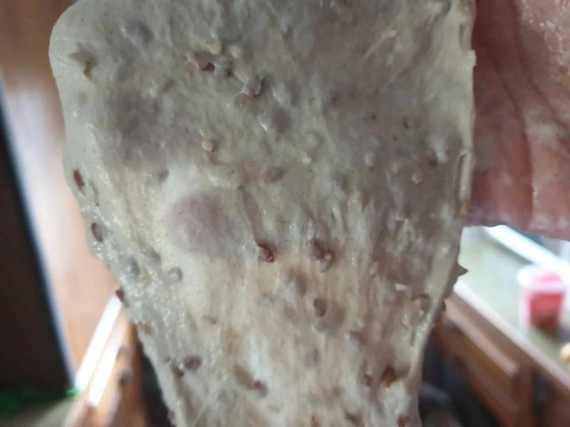 Windowpane test of kneaded dough