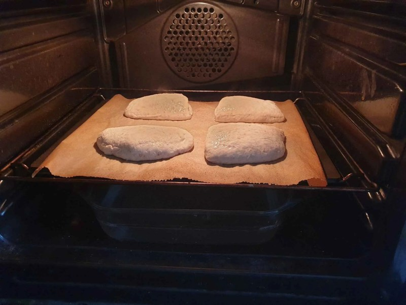 Rolls in the oven