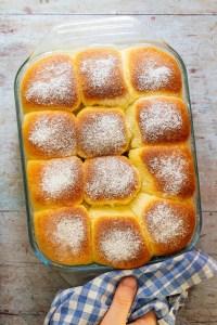 Bohemian Baked Yeast Dumplings ('Buchteln mit Marmeladefüllung')