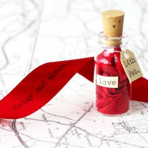 Valentine day love messages in a bottle