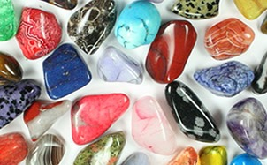 polished river rocks