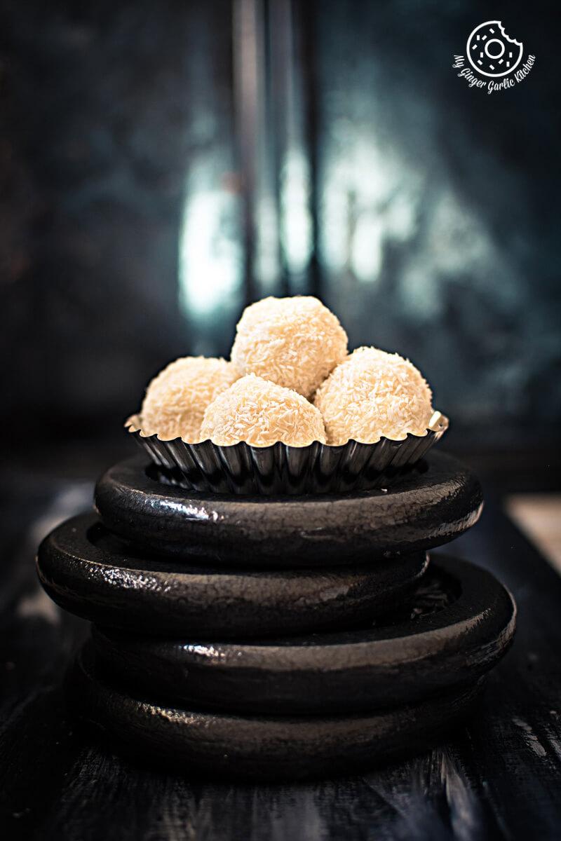 White Chocoalte Coconut Truffles | mygingergarlickitchen.com/ @anupama_dreams