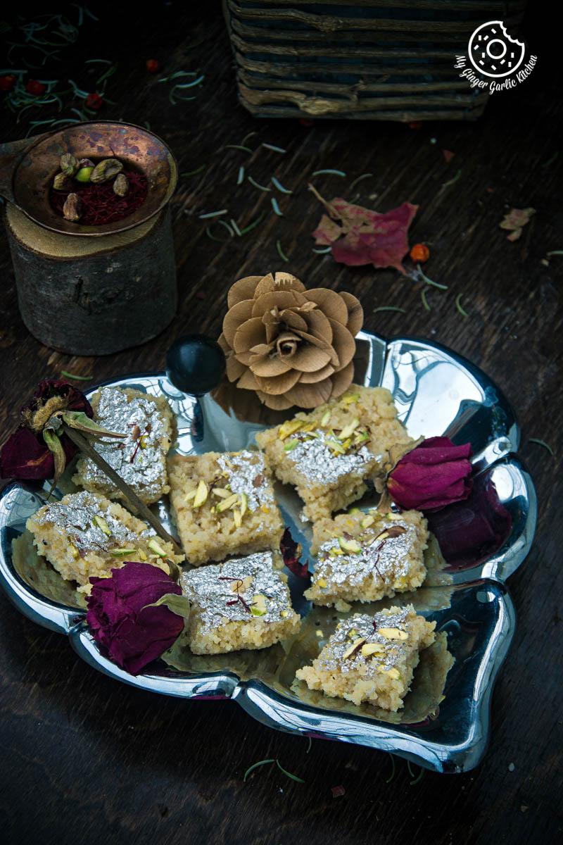 Kopra Pak   Nariyal Ki Burfi   mygingergarlickitchen.com/ @anupama_dreams