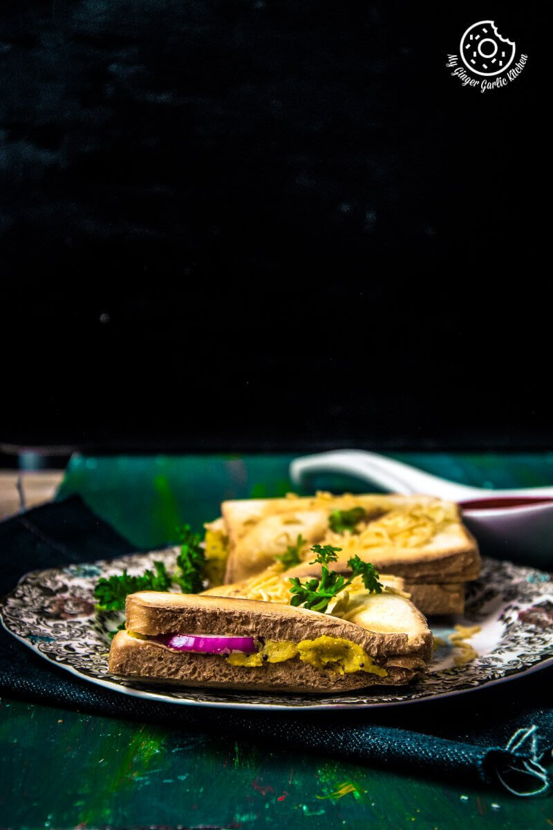 Bombay Masala Toast | How To Make Masala Toast | mygingergarlickitchen.com/ @anupama_dreams