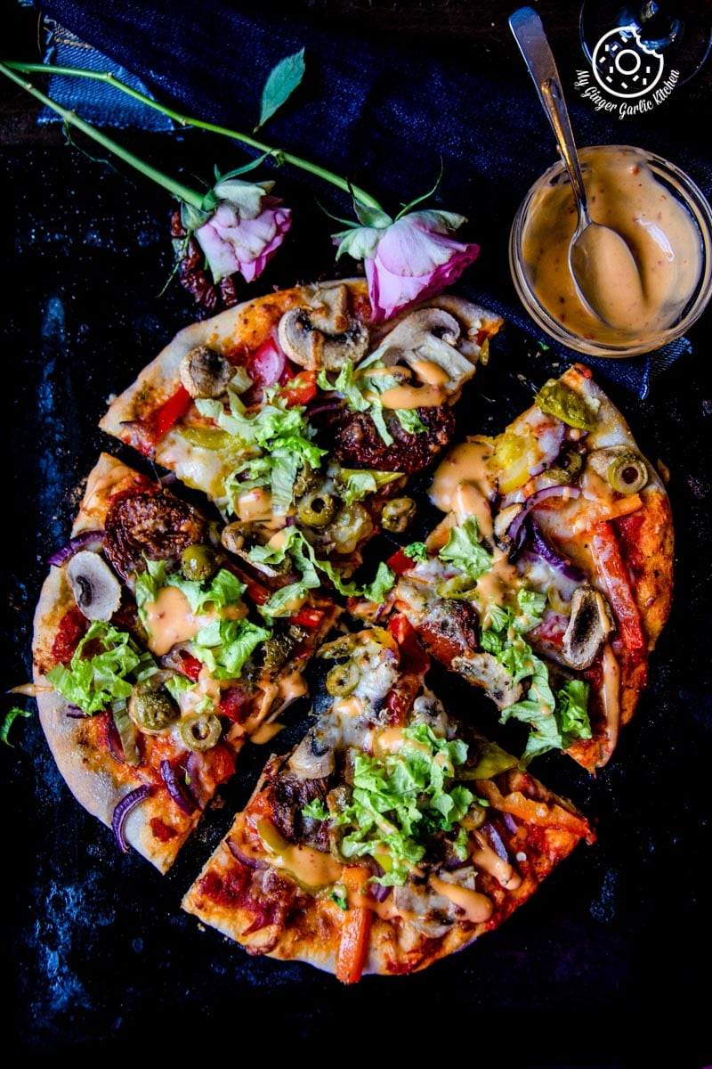 How To Make Perfect Vegetarian Pizza | mygingergarlickitchen.com/ @anupama_dreams