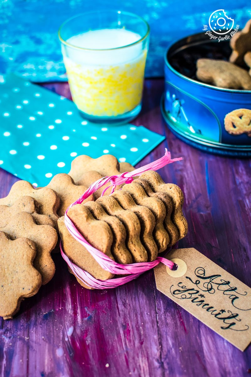 How To Make Atta Biscuit | Whole Wheat Cookies | mygingergarlickitchen.com/ @anupama_dreams