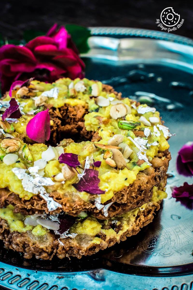 How To Make Ghevar   Jaipuri Malai Ghevar   Ghewar Video Recipe     Scrambled Paneer   mygingergarlickitchen.com/ @anupama_dreams