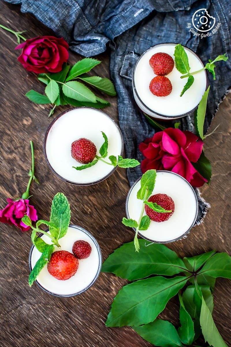 How To Make Strawberry Panna Cotta | mygingergarlickitchen.com/ @anupama_dreams