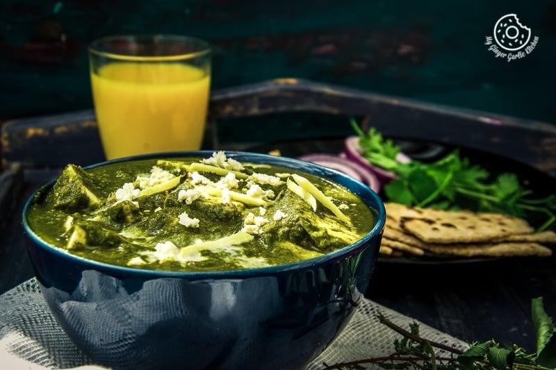 Palak Paneer Recipe | Spinach Indian Cottage Cheese Gravy | mygingergarlickitchen.com/ @anupama_dreams