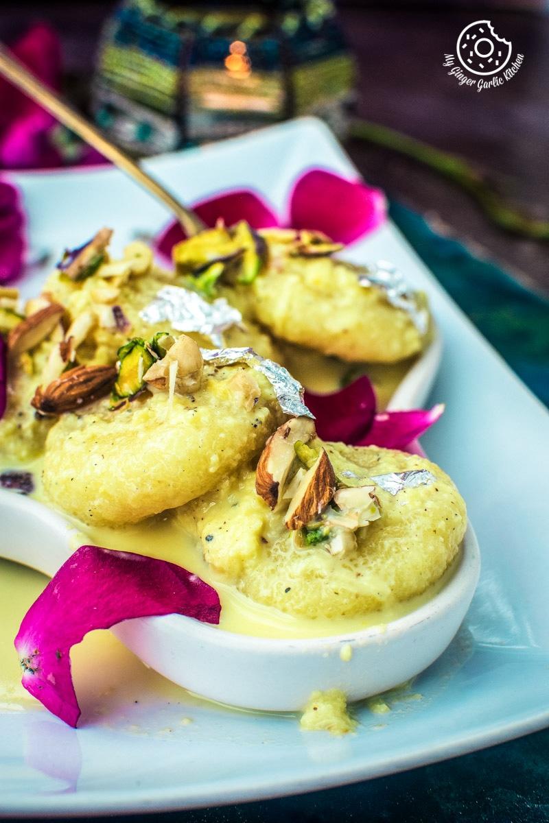 Rasmalai Recipe | How to Make Soft Rasmalai At Home | Easy Homemade Ras Malai | mygingergarlickitchen.com/ @anupama_dreams