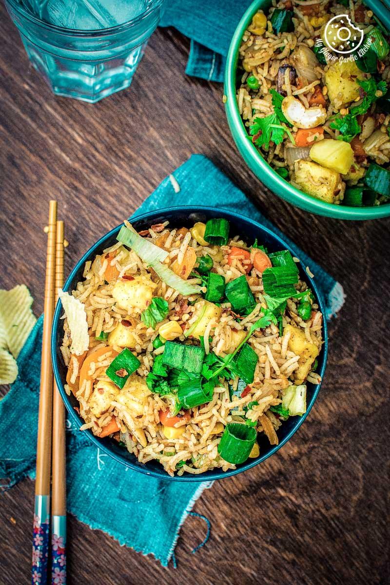 How to make Thai Pineapple Fried Rice   Vegan Recipe   mygingergarlickitchen.com/ @anupama_dreams