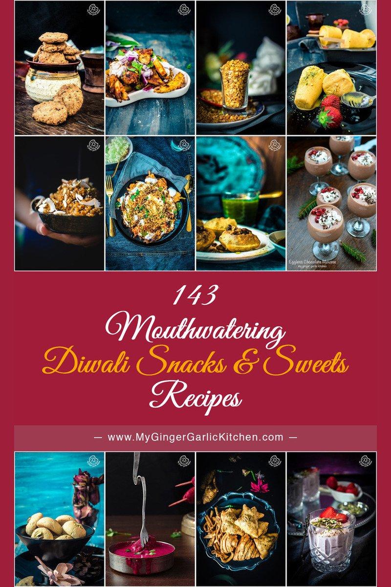 143 Easy and Delicious Diwali Snacks Sweets Recipes | mygingergarlickitchen.com/ @anupama_dreams