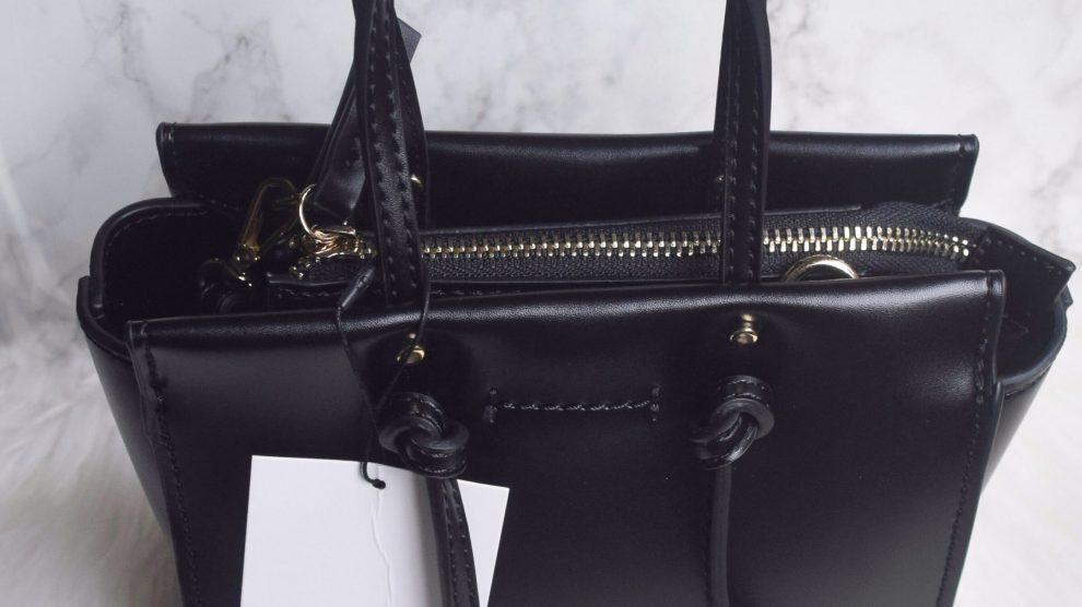 Zara Knotted Mini City Bag