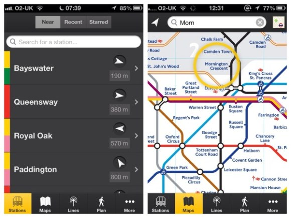 london tube apps tube tracker