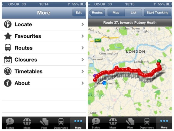 tube deluxe london bus routes
