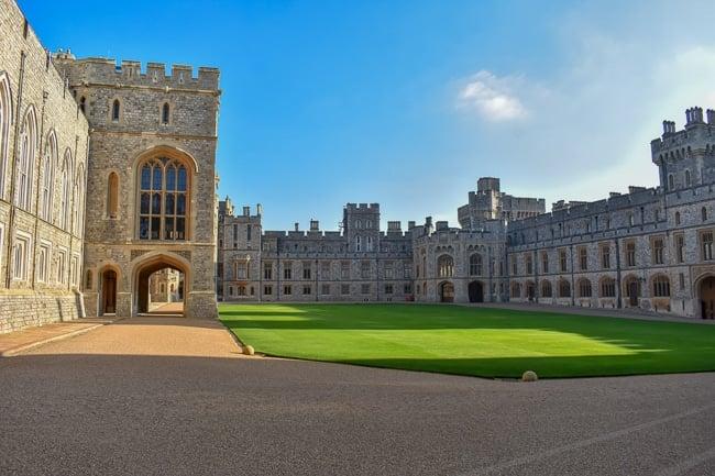 The Quadrangle courtyard inside Windsor Castle