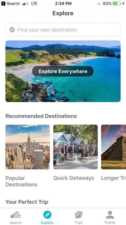 Skyscanner is my go-to travel app for booking flights