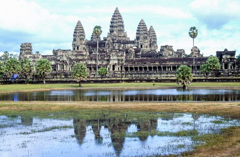 Angkor Wat in Cambodia is a top UNESCO World Heritage Site.