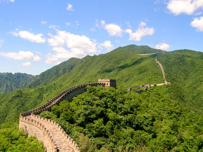 The Great Wall of China is one of the largest and most impressive UNESCO World Heritage Sites.