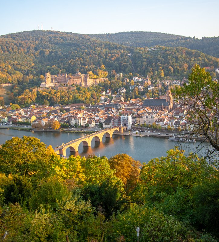 Heidelberg Germany from the Philosphenweg