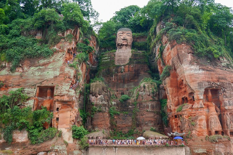 The Leshan Giant Buddha in China is absolutely massive.