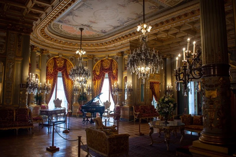 Interior of The Breakers, the most famous and luxurious of the Newport Mansions.