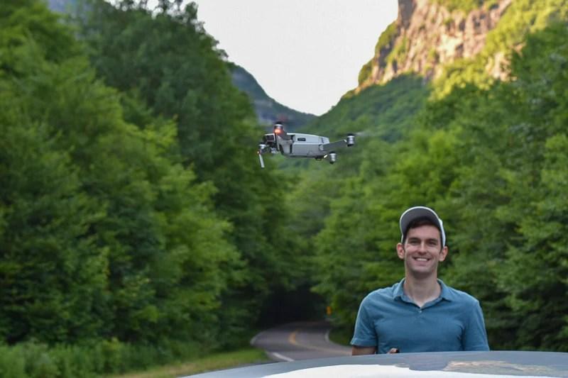 Flying my drone near Mount Mansfield.