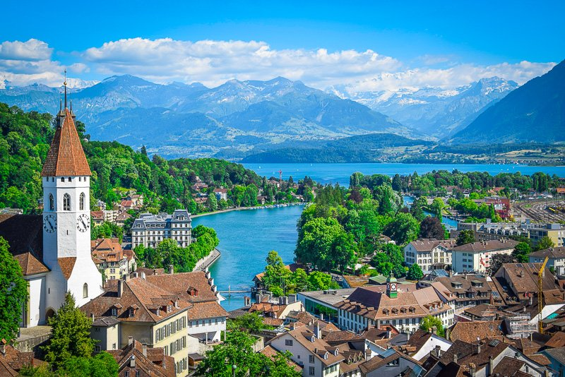 Thun is one of the most beautiful places in Switzerland.