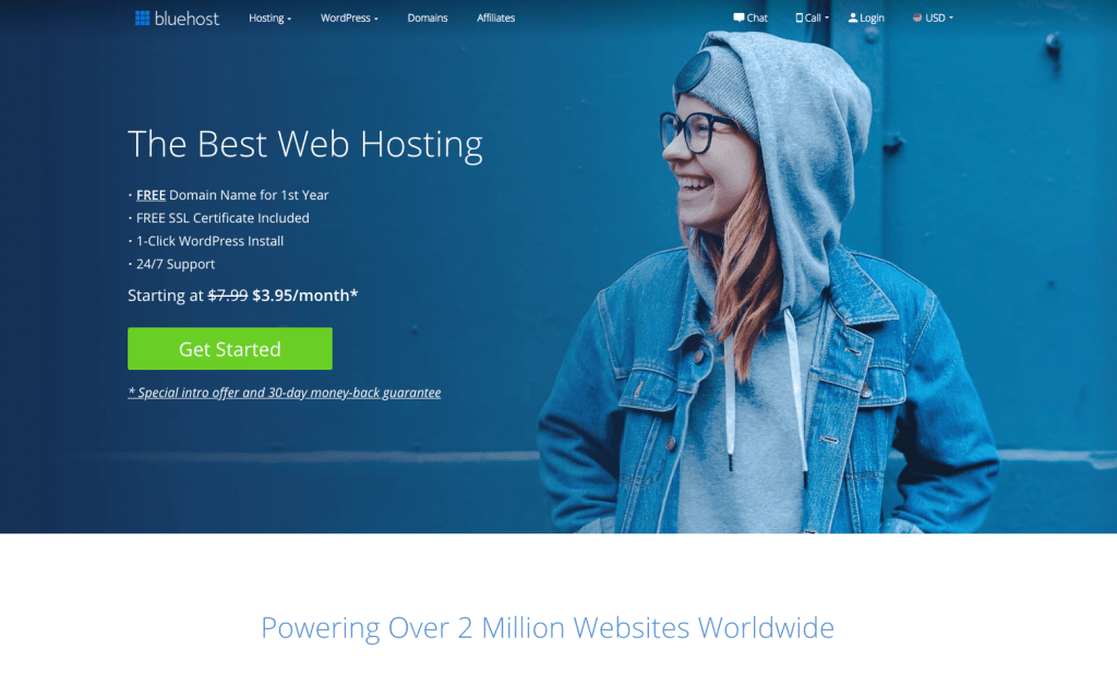 Bluehost website hosting is necessary when starting a travel blog