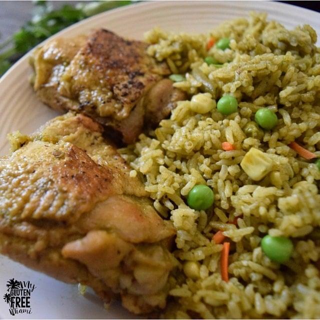 Arroz con Pollo, Peruvian Chicken with Cilantro Rice