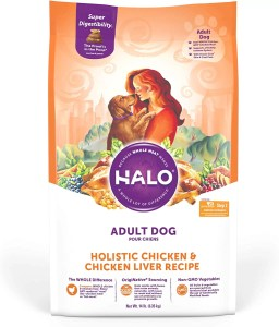 17 Best Dog Foods for Golden Retrievers & Puppies. Halo Holistic Chicken Recipe Large Breed