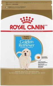 17 best dog foods for golden retrievers and puppies. Royal Canin Golden Retriever Puppy formula.