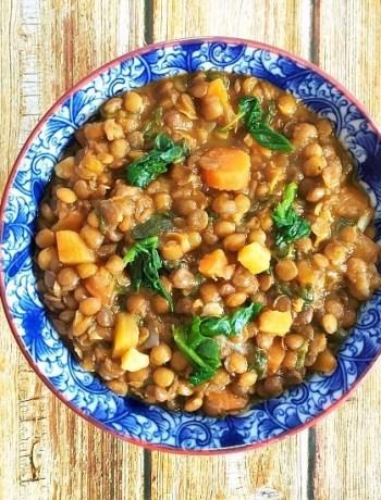 Hearty brown lentil soup