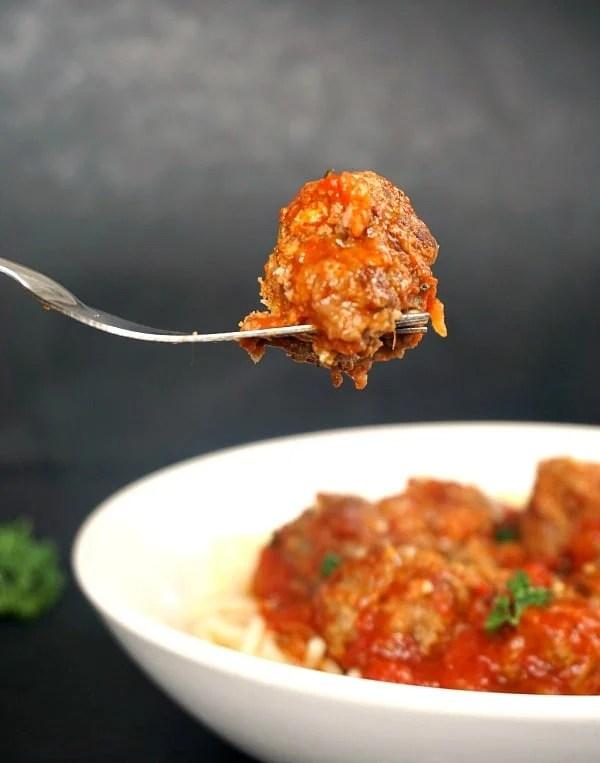 Zucchini meatballs with spaghetti