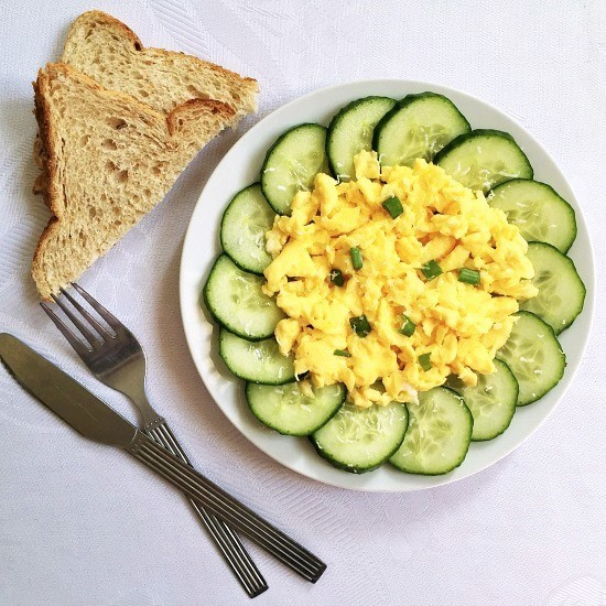 Best scrambled eggs recipe with parmesan cheese
